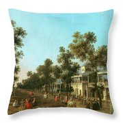 Vauxhall Gardens The Grand Walk Throw Pillow