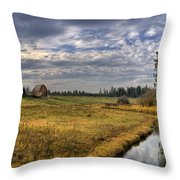 Vay Road Ditch 3 Throw Pillow