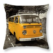 Vdub In Orange  Throw Pillow