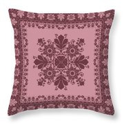 Vector Abstract Ethnic Shawl Floral Pattern Design For Backgroun Throw Pillow