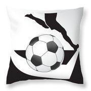 Vector Soccer Ball. Corner Kick Graphic Symbol Throw Pillow