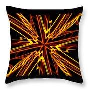 Vectoring The Neon Throw Pillow by David Dunham