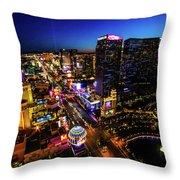 Vegas At Dusk Throw Pillow