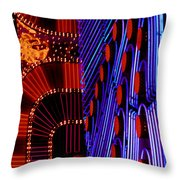 Vegas Lights Throw Pillow