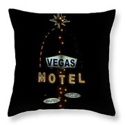 Vegas Motel  Throw Pillow
