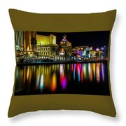 Vegas Reflections Throw Pillow