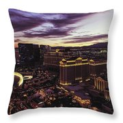 Vegas Sunset Throw Pillow