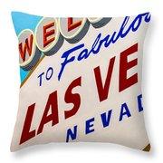 Vegas Tribute Throw Pillow