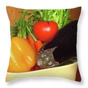 Vegetable Bowl Throw Pillow
