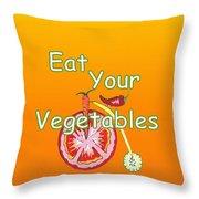 Vegetable Kitchen Decor Throw Pillow