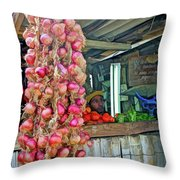 Vegetable Stand 2 Throw Pillow