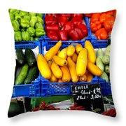 Vegetables Throw Pillow