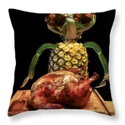 Vegetarian Meal Throw Pillow