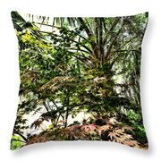 Vegetation Takeover Throw Pillow