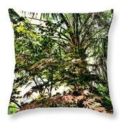 Vegetation Takeover Throw Pillow