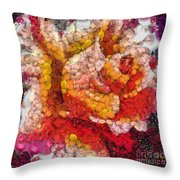 Vegged Out Rose Throw Pillow