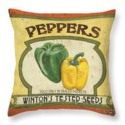 Veggie Seed Pack 2 Throw Pillow by Debbie DeWitt