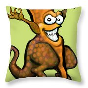 Veggiesaurus Throw Pillow