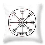Vegvisir Icelandic Stave Throw Pillow