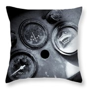 Vehicle Dials In Dust Throw Pillow