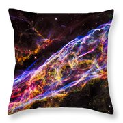 Veil Nebula Supernova Remnant Throw Pillow