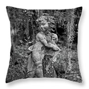 Veil Of Vines Black And White Throw Pillow