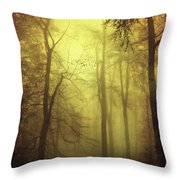 Veiled Trees Throw Pillow