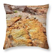 Vein Of Gold In Valley Of Fire State Park Throw Pillow
