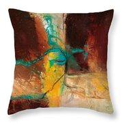 Vein Turquoise Throw Pillow