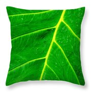 Veins Of Green Throw Pillow