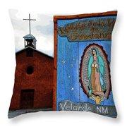 Velarde Church 1817 Throw Pillow