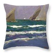 Velas En El Mar. Valencia Throw Pillow