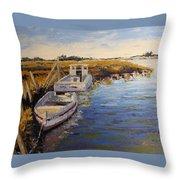 Veldrift Boats Throw Pillow
