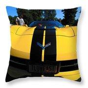 Velocity Yellow Throw Pillow