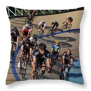 Velodrone Race Event Throw Pillow