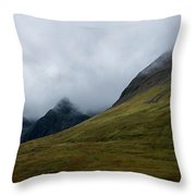 Velvet Hills In The Mist Throw Pillow