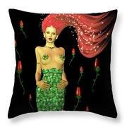 Velvet Mermaid Throw Pillow