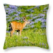 Velvet On Lupine Throw Pillow