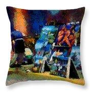 Vendedor De Pinturas Throw Pillow