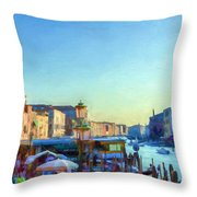 Venetian Afternoon I Throw Pillow