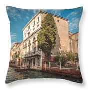 Venetian Architecture And Sky - Venice, Italy Throw Pillow