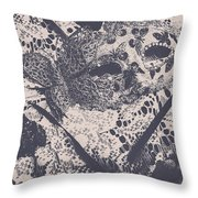 Venetian Ball Room Mask Next To Wilted Flowers Throw Pillow