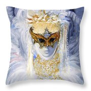 Venetian Beauty Throw Pillow