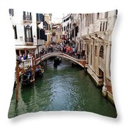 Venetian Bridge Throw Pillow