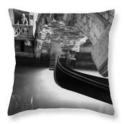 Venetian Daily Scene Throw Pillow