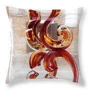 Venetian Glass Style Throw Pillow