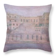 Venetian Harbour, Chania Throw Pillow