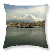 Venetian Harbour Hania Throw Pillow