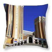 Venetian Hotel Throw Pillow