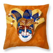 Venetian Mask 2 Throw Pillow